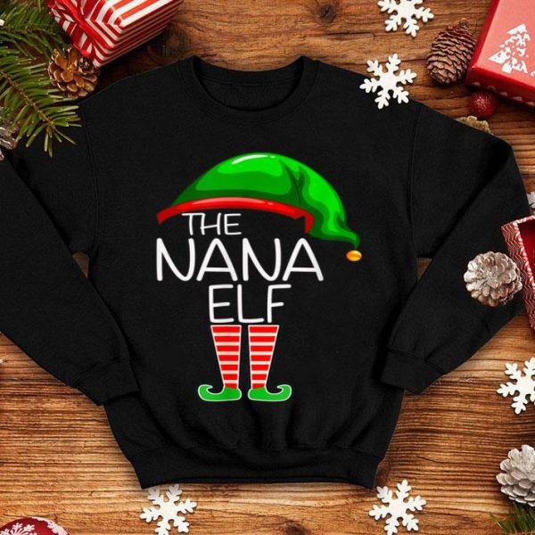 Pretty I'm The Nana Elf Funny Group Matching Family Xmas Gift sweater