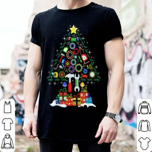 Pretty Merry Christmas Mechanic Christmas Tree shirt