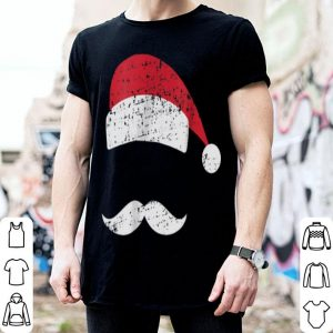 Pretty Santa Hat Mustache Retro Ugly Christmas shirt
