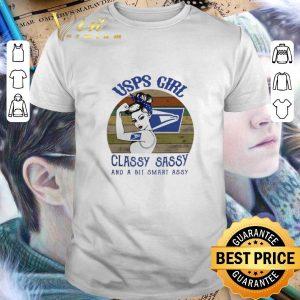 Pretty USPS girl classy sassy and a bit smart assy vintage shirt