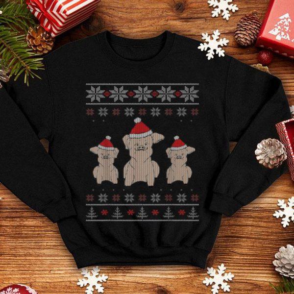 Top Christmas Pigs Ugly Christmas Sweater Style shirt