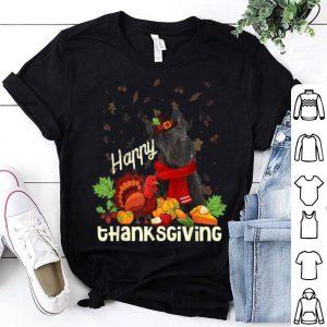 Top Happy Thanksgiving Pilgrim Scottish Terrier Lover Gift shirt