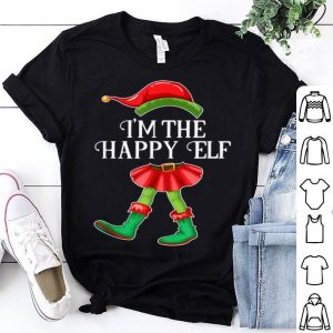Top I'm the Happy Elf Matching Family Pajamas Christmas Gift shirt