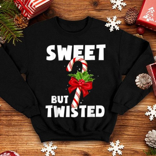Top Sweet But Twisted Costume Candy Cane Christmas Gifts sweater
