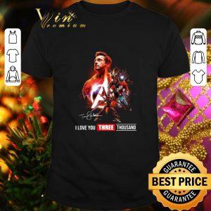 Awesome Avengers Iron Man Tony Stark I love you three thousand signature shirt