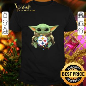 Awesome Baby Yoda hug Autism Pittsburgh Steelers Star Wars shirt
