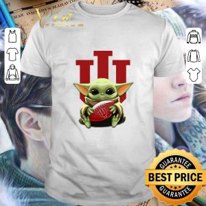 Awesome Baby Yoda hug Indiana Hoosiers Star Wars shirt