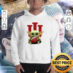 Awesome Baby Yoda hug Indiana Hoosiers Star Wars shirt 2