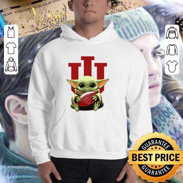 Awesome Baby Yoda hug Indiana Hoosiers Star Wars shirt