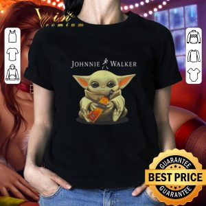Awesome Baby Yoda hug Johnnie Walker Whiskey Star Wars shirt