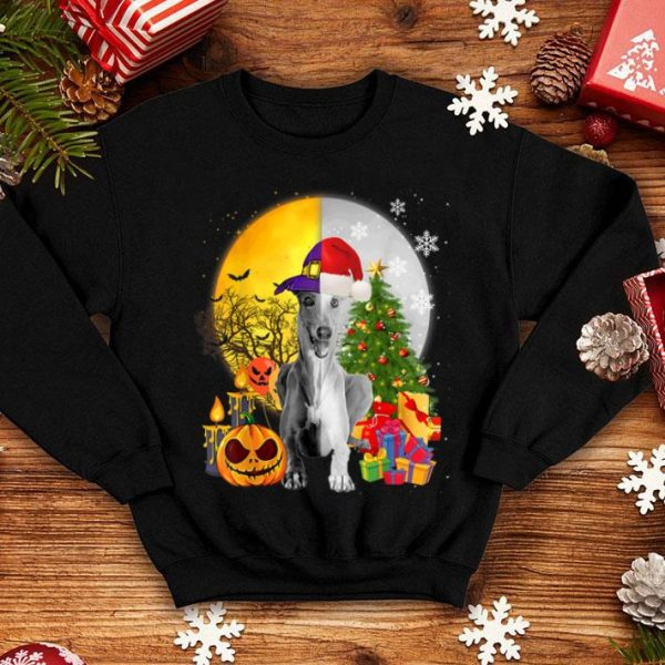 Awesome Greyhound Happy Halloween Merry Christmas Funny Gifts sweater