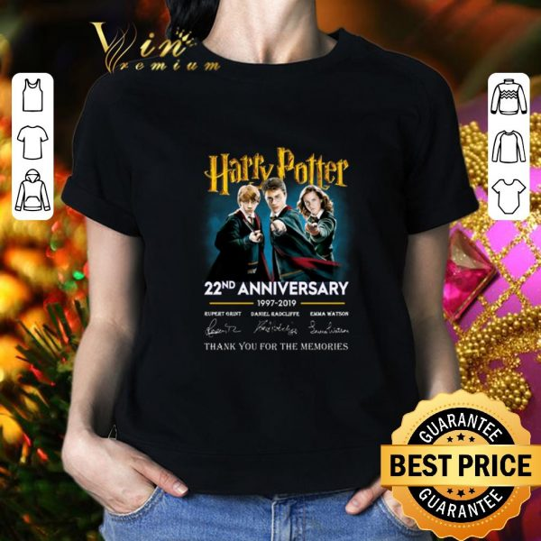 Awesome Harry Potter 22nd anniversary signed thank you for the memories shirt