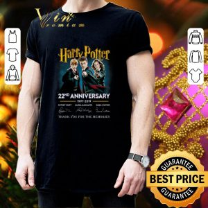 Awesome Harry Potter 22nd anniversary signed thank you for the memories shirt 2