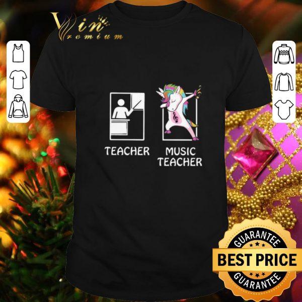 Awesome Teacher Unicorn Music Teacher shirt