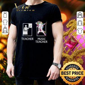 Awesome Teacher Unicorn Music Teacher shirt 2