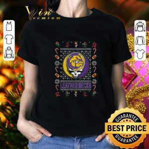 Awesome Western Illinois Leathernecks Grateful Dead Christmas Ugly sweater