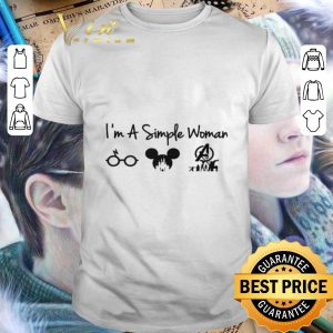 Best I'm a simple woman I like Harry Potter Mickey Mouse Avengers Endgame shirt
