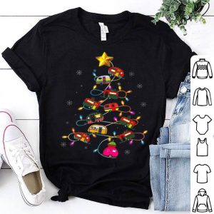 Funny Camping Merry Christmas Tree Camper Snowman RV Lights sweater