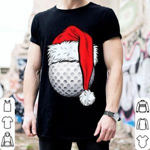 Nice Christmas Golf Ball Santa Hat Funny Sport Xmas Tees sweater