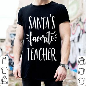 Nice Cute Santa's Favorite Teacher Funny merry christmas sweater