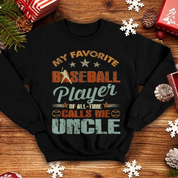 Nice My Favorite Baseball Player Call Me Uncle-Christmas Gift sweater