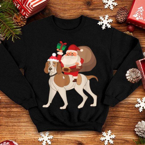 Official Santa Riding Bracco Italiano Christmas Pajama Gift sweater