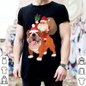 Official Santa Riding Bulldog Christmas Pajama Gift sweater