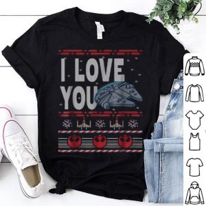 Official Star Wars Falcon I Love You Ugly Christmas Sweater sweater
