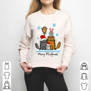 Original Merry Fluffmas Funny Cat Kitten Fluff Christmas Costume sweater