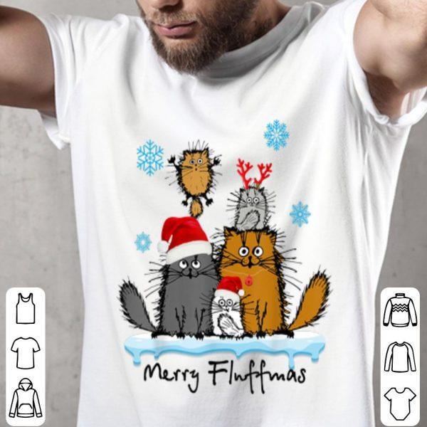 Original Merry Fluffmas Funny Cat Kitten Fluff Christmas Costume sweater