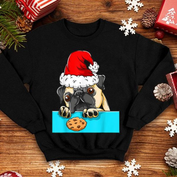 Original Pug Dog with Santa Claus Hat Funny Christmas Gift sweater