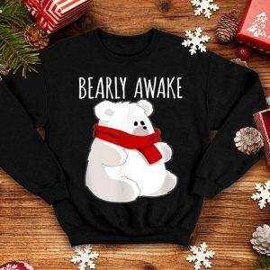 Premium Bearly Awake Funny Bear Christmas Pajama Sleep sweater
