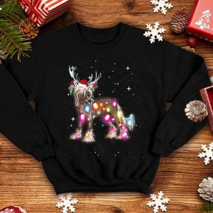 Premium Christmas Lights Chinese Crested Dog sweater