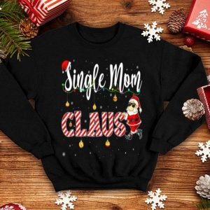 Premium Cute Christmas Single Mom Santa Hat Gift Matching Family sweater