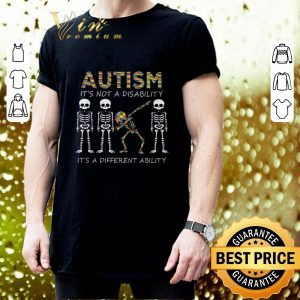 Pretty Autism it's not a disability it's a different dabbing skeleton shirt 2