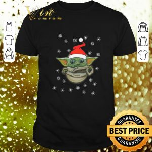 Pretty Baby Yoda Snow Merry Christmas The Mandalorian shirt