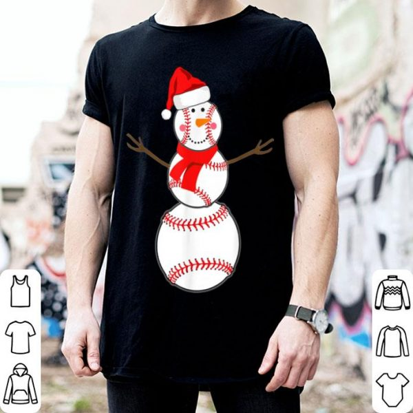 Pretty Baseball Christmas Snowman Red Santa Hat Scarf Pajama sweater
