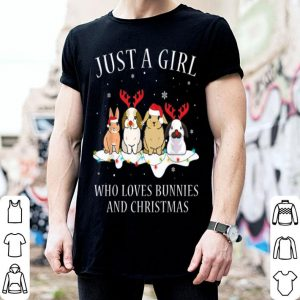 Pretty Just a girl who loves bunnies and Christmas bunny lover sweater