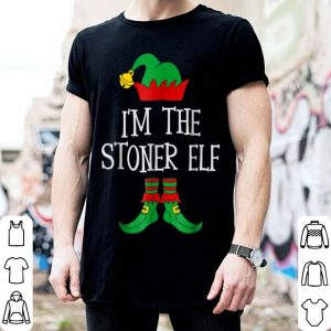 Pretty Marijuana Christmas IM THE STONER ELF Matching Family sweater