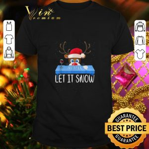 Pretty Santa Reindeer Walmart Cocaine Let It Snow Christmas shirt