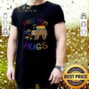 Pretty Sloth Free Mom Hugs LGBT shirt 2