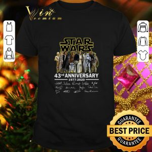 Pretty Star Wars all character 43rd anniversary 1977-2020 signatures shirt