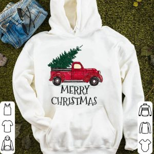 Pretty Vintage Red Truck With Merry Christmas Tree sweater