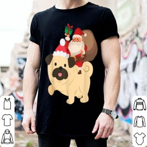 Santa Riding Pug Christmas Pajama Gift sweater