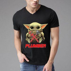 Star Wars Baby Yoda Hug Plumber shirt