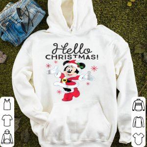 Top Disney Santa Minnie Mouse Hello Christmas Holiday sweater