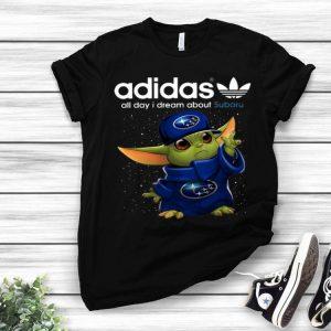 Baby Yoda Adidas All Day I Dream About Subaru shirt