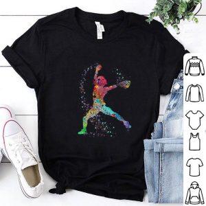 Colorful baseball player art shirt