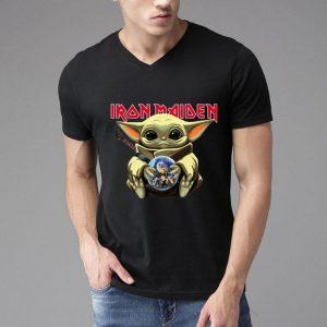 Star Wars Baby Yoda Hug Iron Maiden shirt