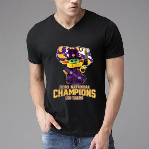 Star Wars Baby Yoda LSU Tigers 2019 National Champions shirt